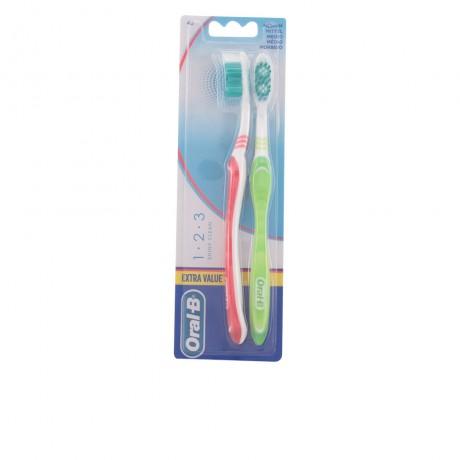 shiny clean cepillo dental medio 2 pz