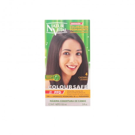 coloursafe tinte permanente 4 castaño 150 ml
