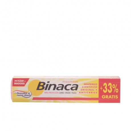 binaca amarillo triple acción pasta dentífrica 75 ml 33
