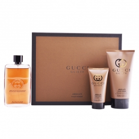 gucci guilty absolute pour homme lote 3 pz
