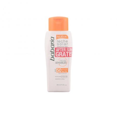 solar piel sensible spf50 leche lote 2 pz