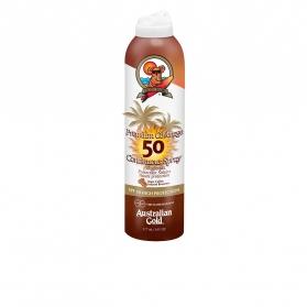 premium coverage spf50 continuous spray with bronzer 177 ml
